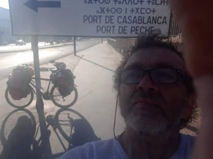 In bicicletta fino a Casablanca: l'impresa di un reatino
