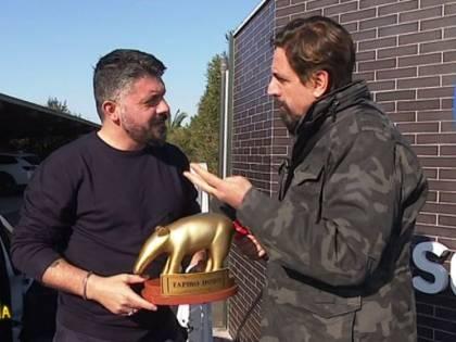 Gattuso riceve il Tapiro: ''Servirebbe una visita a San Gennaro...''
