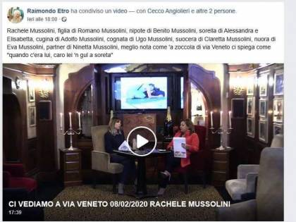 Insulti su Facebook: Rachele Mussolini denuncia ex br Etro