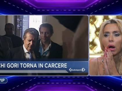 """Gf Vip, la Marini scopre l'arresto di Cecchi Gori e scoppia in lacrime: """"Sto vicina anche a Rita"""""""