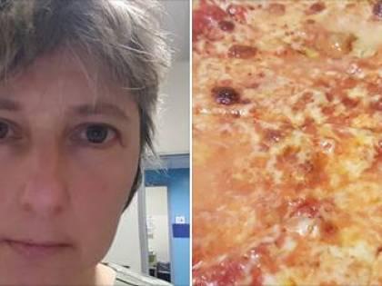 L'infermiera si commuove per le sette pizze regalate