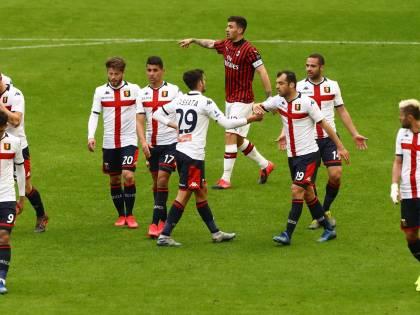 Serie A, il Genoa batte 2-1 il Milan nel deserto del Meazza