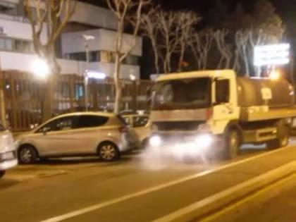 È iniziata nel sud Italia la sanificazione delle strade