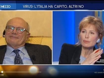 """La gaffe di Lilli Gruber: """"Prof Galli? Il 'cosiddetto esperto'..."""""""
