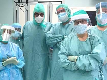 Covid-19, il primo intervento su una paziente positiva