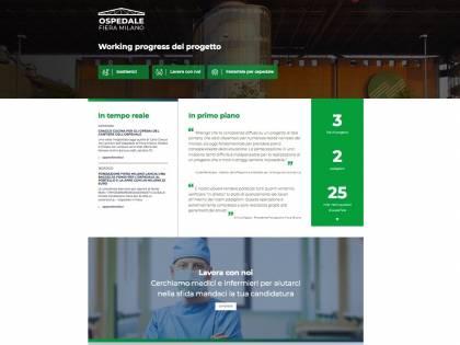 Ospedale Fiera Milano, online il sito per seguire i lavori in diretta