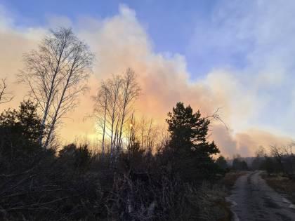 Ucraina, le fiamme si avvicinano alla centrale di Chernobyl