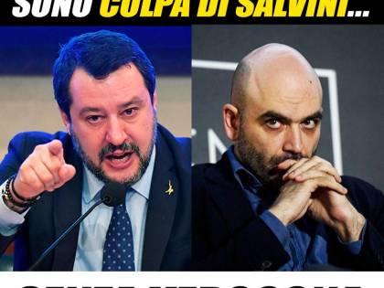 """Lo sfogo di Salvini dopo l'attacco alla Lombardia: """"Saviano? Senza vergogna"""""""
