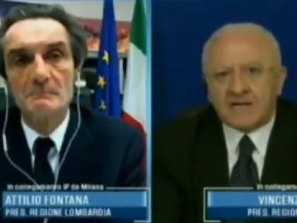 "De Luca-Fontana, scontro a Porta a Porta: ""Irresponsabile aprire"""