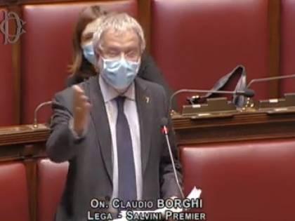 """""""Ve ne andrete dopo aver rubato e defecato"""": Borghi attacca Conte"""