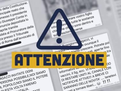 """Virus, Sardine denunciano: """"Su Telegram si organizzano per manifestare, a rischio la salute di tutti"""""""