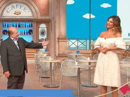 """Giancarlo Magalli offende in diretta Roberta Morise: """"Virginale... almeno nell'abito"""""""