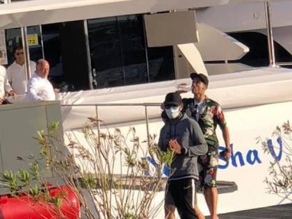 Cristiano Ronaldo a Viareggio per scegliere il suo nuovo super yacht