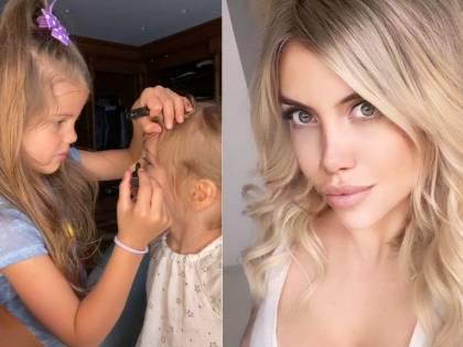 """Il Codacons denuncia Wanda Nara: """"Usa le sue figlie per promuovere cosmetici"""""""