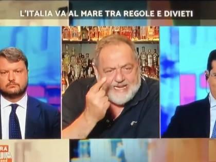 """Gianfranco Vissani scontro in tv con il deputato Migliore: """"Dove stanno i soldi, fate giochetti?"""""""