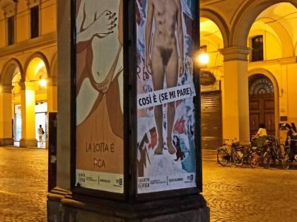L'installazione choc a Bologna