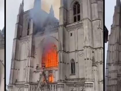 Francia, altra chiesa in fiamme: a fuoco cattedrale gotica di Nantes