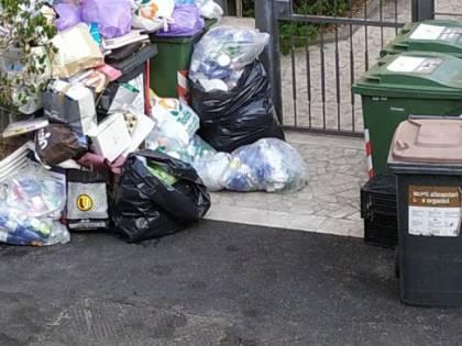 Le palazzine invase dalla spazzatura nel quartiere romano di Cinquina