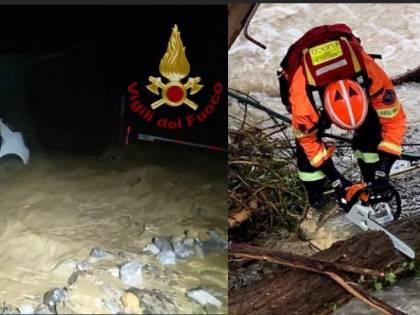 Maltempo, morto vigile del fuoco: un disperso in Piemonte. Esonda il Roya a Ventimiglia
