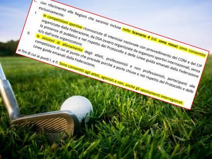 Giochi a golf? Non esiste il lockdown