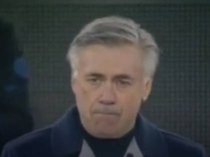 Le lacrime di Ancelotti in campo che commuovono il web