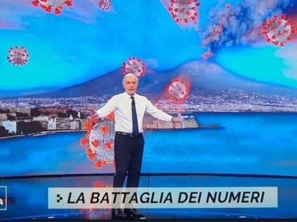 """""""Il Vesuvio erutta Covid"""": bufera su Giletti"""