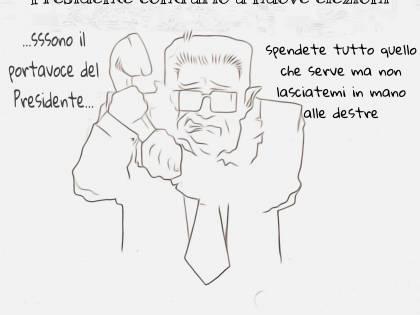 La vignetta del giorno: il Colle smentisce voci sulla contrarietà di andare a nuove elezioni