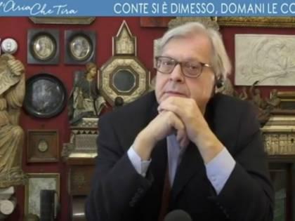 """Sgarbi si astiene e cita D'Annunzio: """"Memento audere semper"""""""