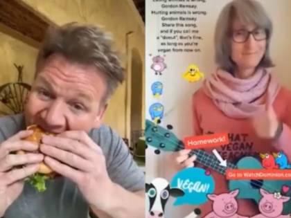 """""""Mangiare gli animali è sbagliato"""". Gordon Ramsay zittisce la vegana così"""