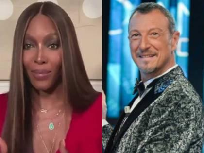 """""""Sarà un Sanremo degli italiani"""". Ma Amadeus chiama Naomi Campbell a condurre"""