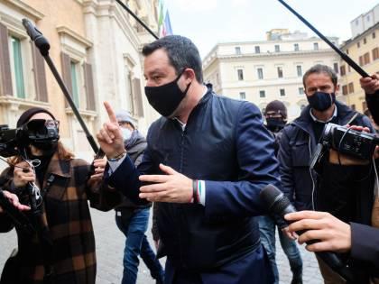 """Salvini: """"Draghi scelga tra noi e il M5s"""""""
