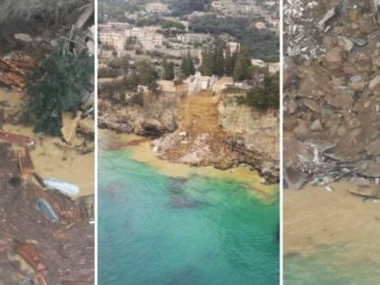 Una frana travolge il cimitero: quell'orrore delle bare in mare