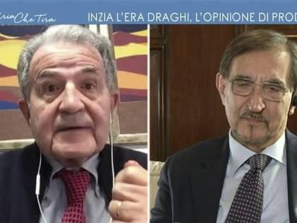 """""""Non diciamo..."""", """"Non capisce"""". È rissa tv tra Prodi e La Russa"""