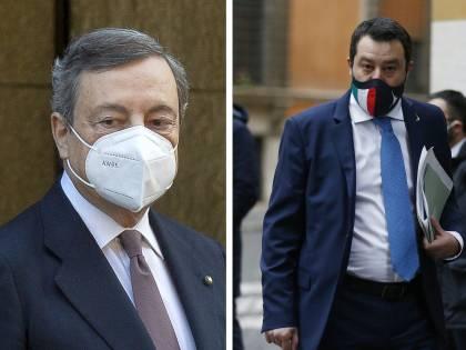 Chiusure, commissario e vaccini: il faccia a faccia Draghi-Salvini
