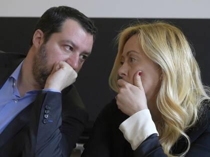 """Salvini: """"La Meloni all'opposizione? Mi preoccupa zero"""""""