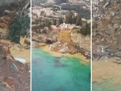 Camogli, cimitero crollato: le salme preda dei gabbiani