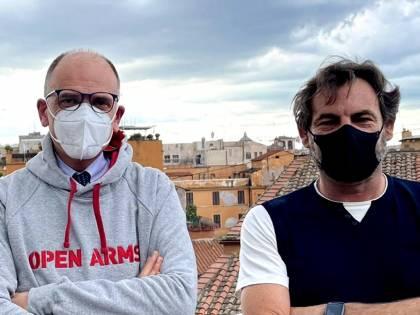 """Letta riceve il fondatore di OpenArms, ira di Salvini: """"Non ho parole"""""""