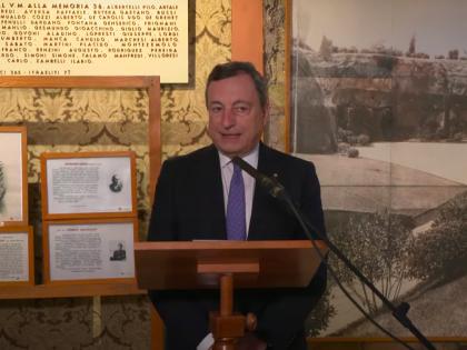 """25 aprile, Draghi: """"Noi italiani non fummo tutta brava gente"""""""