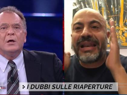 """""""I ristoratori si adeguino al delivery"""", """"Tu sei matto"""". Scontro Cecchi Paone-Paragone"""