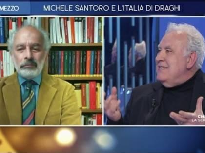 """""""E tu in pensione?"""". Scontro in tv tra Santoro e Lerner"""