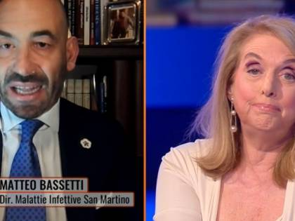 """Vergogna, ignorante"": rissa in tv con Bassetti"