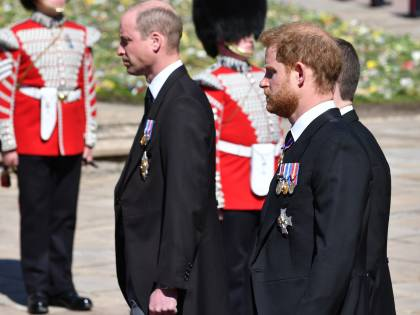 Il funerale di Filippo non riappacifica Harry e William