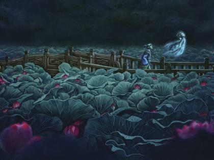 """Le """"Storie di fantasmi del Giappone"""" illustrate da Benjamin Lacombe"""