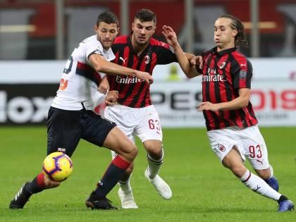 Il Milan gioisce al 91': Romagnoli stende 2-1 il Genoa