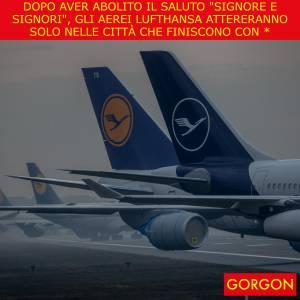 Ecco la satira del giorno. La novità di Lufthansa