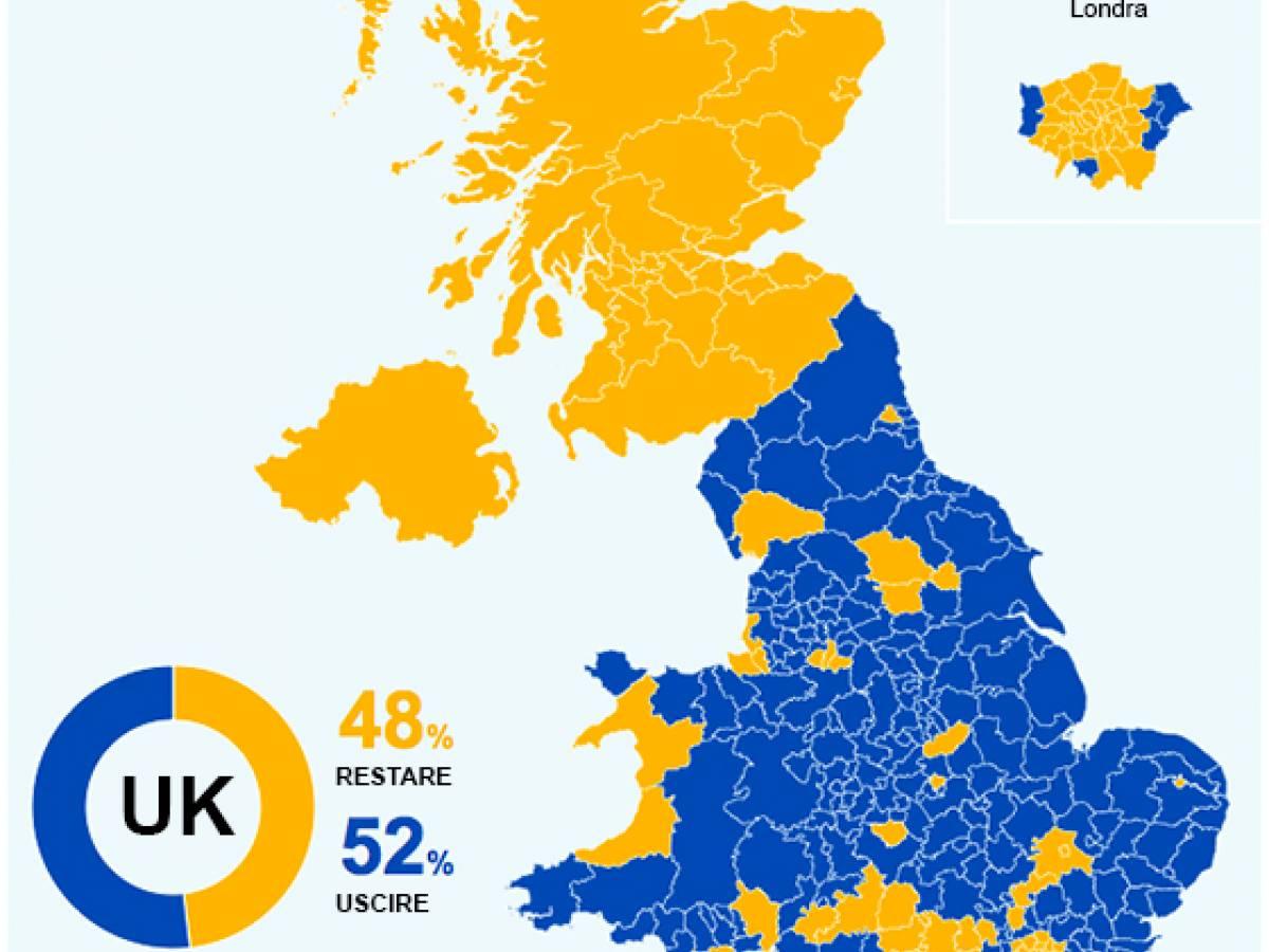 Irlanda Del Nord Cartina.Brexit La Mappa Del Voto Scozia Nord Irlanda E Londra Pro Remain Ilgiornale It