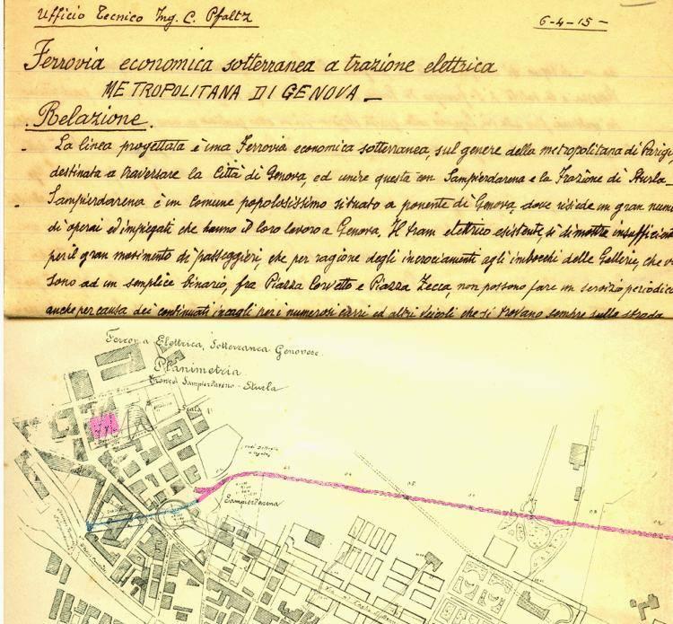 Il Metrò di ponente viaggia all'indietro e «arriva» al 1915