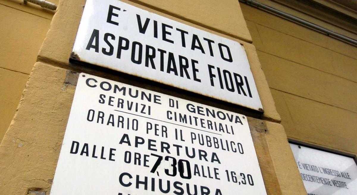 Nei cimiteri di Genova come al self service