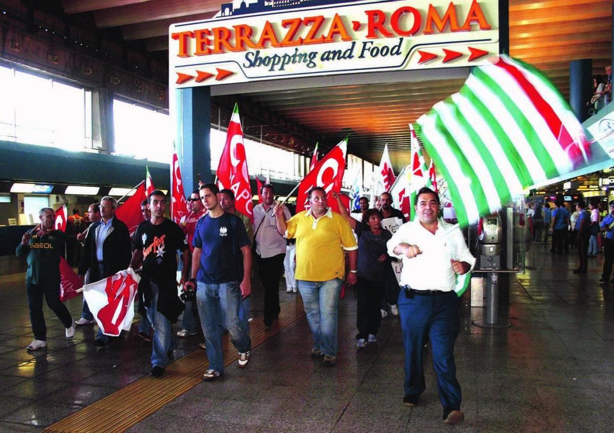 Fiumicino: per l'agitazione del Sult voli cancellati, ritardi e taxi bloccati