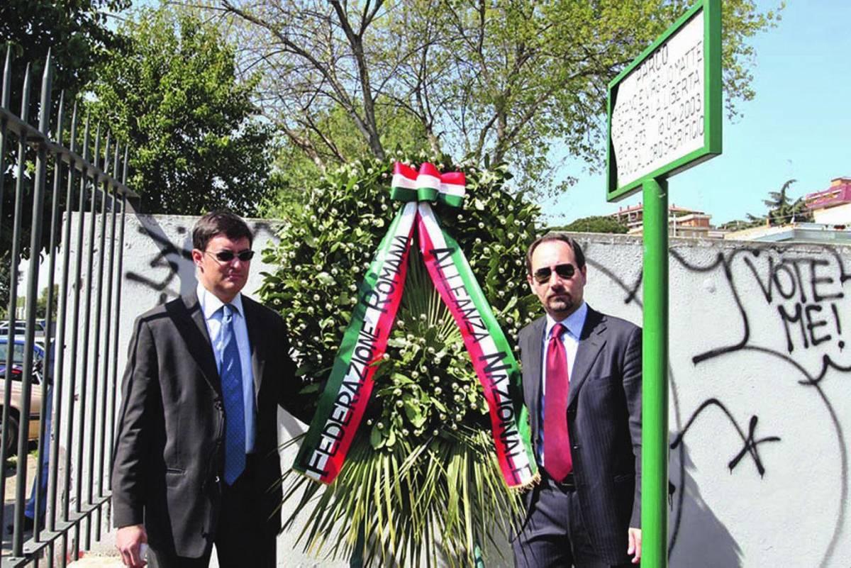Cerimonia di An per i fratelli Mattei E Veltroni inaugura l'associazione